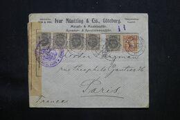 SUÈDE - Enveloppe Commerciale De Göteborg Pour Paris En 1915 Avec Contrôle Postal Militaire De Dieppe - L 69310 - Briefe U. Dokumente