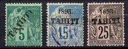 Tahiti YT N° 10 *, N° 24 Oblitéré Et N° 27 Oblitéré. B/TB. A Saisir! - Tahiti (1882-1915)
