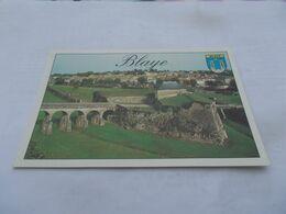 BLAYE ( 33 Gironde ) LA CITADELLE  VUE GENERALE ET LE VILLAGE  Photo P DUREAU - Blaye