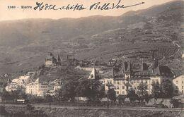 Sierre Chateau Bellevue - Avec Une Locomotive Sur Les Rails - VS Valais