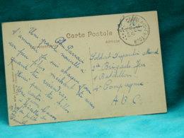 COMBLAIN-LA-TOUR - LES ROCHERS ET L'OURTHE - BEAU CACHET ROND DE COMBLAIN-LA-TOUR SUR MARQUE SM 1946 - Armeestempel