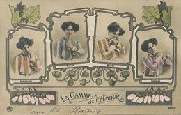 Gamme De L' Amour . Langage . Art Nouveau . Amoureuse , Fiancée, Mariée, Divorcée Envoi Villa St Joseph Vincennes - Frauen