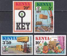 Kenia Kenya 1984 Wirtschaft Economy Handel Trade Export Hafen Habour Flughafen Airport Fracht Transport, Mi. 304-7 ** - Kenya (1963-...)