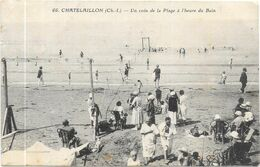 CHATELAILLON : UN COIN DE LA PLAGE A L'HEURE DU BAIN - Châtelaillon-Plage