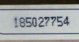 (LT1184) VARIETA' ERRORE - PALLINI SU 77 DELL' OCR - CARTA INFINITA USATA C&C N° 1209 N° 185027754 - Errori & Varietà