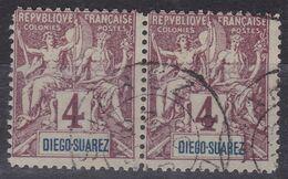 FAUX (de Fournier?) Diego Suarez Type Groupe 4c Paire Rare ! - Diego-suarez (1890-1898)