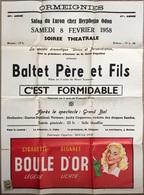 Ath, Ormeignies, Salon Luron, Affiche Théâtre 1958. 65/49 Cm. - Posters