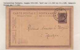 REF1667/ Entier CP 58 Daté 7.7.22 C.Gemmenich 7.7.22 Demande De Renseigne Baptême > Doyen Montzen - Cartoline [1909-34]
