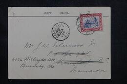 AFRIQUE DU SUD OUEST - Carte De Correspondance De Windhoek Pour Le Canada En 1938 - L 69333 - Südwestafrika (1923-1990)