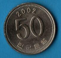 KOREA SOUTH 50 WON 2002  KM# 34 - Korea, South