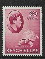 SEYCHELLES 1938 30c CARMINE SG 142 MOUNTED MINT Cat £50 - Seychelles (...-1976)