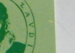 (LT1194) VARIETA' ERRORE  MACCHIA GIALLA LATO DX  - MONTEVERDI VERDE  USATA C&C N° 2301 N° 340258202 - Errori & Varietà