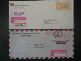 Vereinigte Staaten 1981/84- Reco-Geschäftsbrief Mit Freistempel - Marcofilia