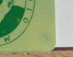(LT1196) VARIETA' ERRORE - RIGA VERDE ALONE GIALLO DX BASSO  - MONTEVERDI VERDE  USATA C&C N° 2301 N° 340253788 - Errori & Varietà
