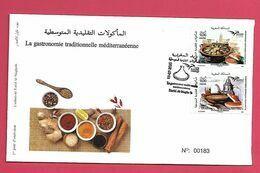 Maroc / Morocco 2020 - FDC - Euromed Postal - La Gastronomie Traditionnelle Méditérranéénne - Marokko (1956-...)
