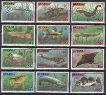 Guyana 1980 - Mi.Nr. 580 - 591 - Postfrisch MNH - Tiere Animals Fische Fishes - Fische