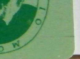 (LT1197) VARIETA' ERRORE - RIGA VERDE LATO DX BASSO   - MONTEVERDI VERDE  USATA C&C N° 2301 N° 339131073 - Errori & Varietà