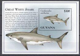 Guyana 1995 - Mi.Nr. Block 472 - Postfrisch MNH - Tiere Animals Fische Fishes Haie Sharks - Fische