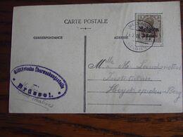 14-18: OCC N° 11 Sur Carte Vue De MELSBROECK Et Oblitérée Idem (à Pont) En 1918 . Censure De Brussel - Guerra '14-'18
