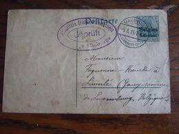 14-18: Entier Postal (pas Frais) à 5C Oblitéré MAUBEUGE (FRANKREICH) En 1915 + Censure De MAUBEUGE! - Andere Brieven