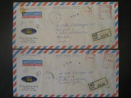Sri Lanka (Ceylon) 1979- 2 Reco-Geschäftsbrief Mit Freistempel - Sri Lanka (Ceylan) (1948-...)