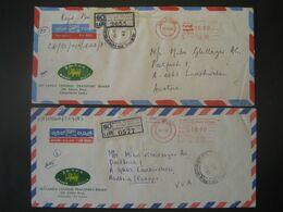 Sri Lanka (Ceylon) 1982/83- 2 Reco-Geschäftsbrief Mit Freistempel - Sri Lanka (Ceylan) (1948-...)