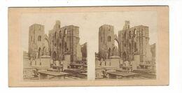 Ruine Abbaye ?  Cimetière   Stereoview  ( Vers 1875 ) - Stereoscopio