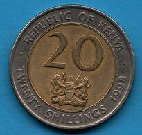 KENYA 20 SHILLINGS 1998   KM# 32 Arap Moi - Kenya