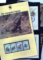 1994 Jungferninseln WWF Anegada Leguan Komplettes Kapitel 4 **, 4 FDC, 4 MK + Beschreibung - Neufs