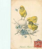 Illustrateur M.M Vienne N° 301 - Joyeuses Paques - Poussins Oeufs    N 670 - Pâques