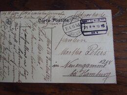 14-18: Carte Vue De Dinant En Feldpost Oblitérée MONT ST GUIBERT (chemin De Fer) Et OTTIGNIES (à Pont) En 1915. - Guerra '14-'18