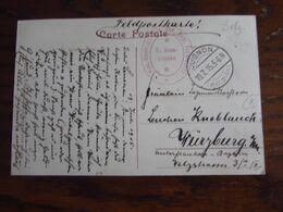 14-18: Carte Vue De Neufchâteau (anciennes Tanneries) En Feldpost Oblitérée CUGNON (à Pont) En 1915. Cachet Oblong - Guerra '14-'18