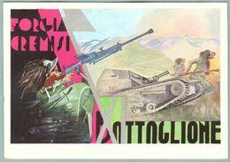 Cartolina Scuola Allievi Ufficiali Di Complemento XI° Battaglione Bersaglieri VG - Weltkrieg 1939-45