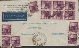 1632 - POSTA AEREA - Busta Senza Testo Del 27 Ottobre 1947 Da Torre Del Greco A Buenos Aires (Argentina) - 1946-60: Marcophilia