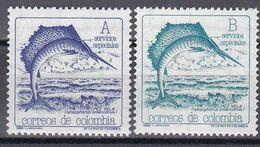 Kolumbien Colombia 1988 - Mi.Nr. 1727 - 1728 - Postfrisch MNH - Tiere Animals Fische Fishes - Vissen