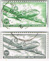 1946 Luchtpost 50F En 100F - Poste Aérienne