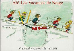 4 CARTES  Illustrateur  Alexandre     Ah Les Vacances De Neige    ( Série Complete ) - Alexandre