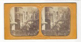 """Paris Intérieur église Saint Merri   Stéréo """" à La Lumière """"  Vers 1860 - 70 - Stereoscopio"""