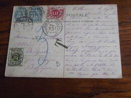 Carte Vue De Vallauris Oblitérée Idem Pour Le RELAIS De DADIZEELE Qui TAXE à 30C En 1904 - Storia Postale