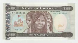 Eritrea 10 Nakfa 1997 P-3a UNC - Eritrea