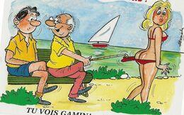 5 CARTES  Illustrateur  Alexandre     La Vie Commence Aux 3 Eme Age  ( Série Complete ) - Alexandre