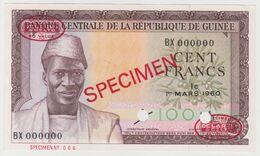 Guinea 100 Francs 1960 P-13s UNC - SPECIMEN - Guinea