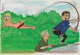 4 CARTES  Illustrateur  Alexandre     Les Joies De La PECHE   ( Série Complete ) - Alexandre
