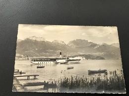 543 - LAC D'ANNECY. SEVRIER Le Bateau Quittant Le Port - 1959 Timbrée - Annecy