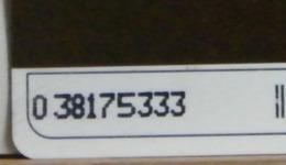(LT1206) VARIETA' ERRORE - OCR  SPOSTATO A SX - FASCIA ORARIA  USATA C&C N° 1156 N° 038175333 - Errori & Varietà