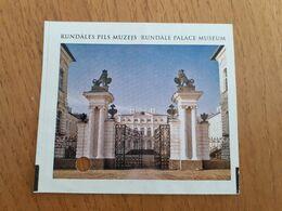 Latvia Rundale Palace Museum Ticket 2010 - Tickets - Vouchers