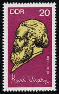 1366A Karl Marx 20 Pf, Gezähnt, ** - Unclassified