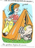 5 CARTES  Illustrateur  A. GONDOT   Les Dix Commandements Du Campeur ( Vespa) - Gondot