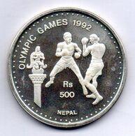 NEPAL, 500 Rupees, Silver, Year 1992, KM #1058, PROOF - Nepal
