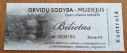 Lithuania Orvidu Museum Ticket 2019 - Tickets - Vouchers